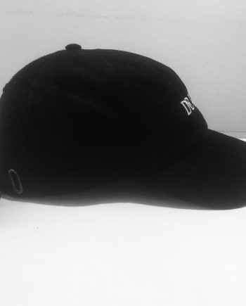 "DEKĀD SUEDE ""DAD HAT"" in BLACK"